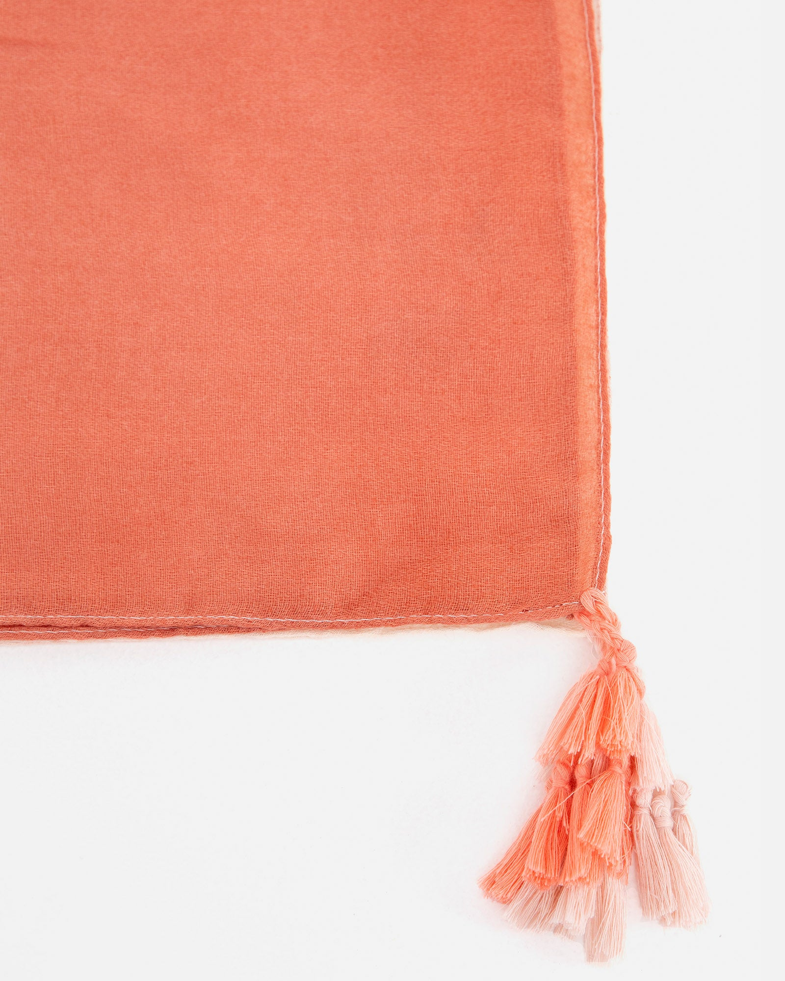 Scarf with Tassel Detail