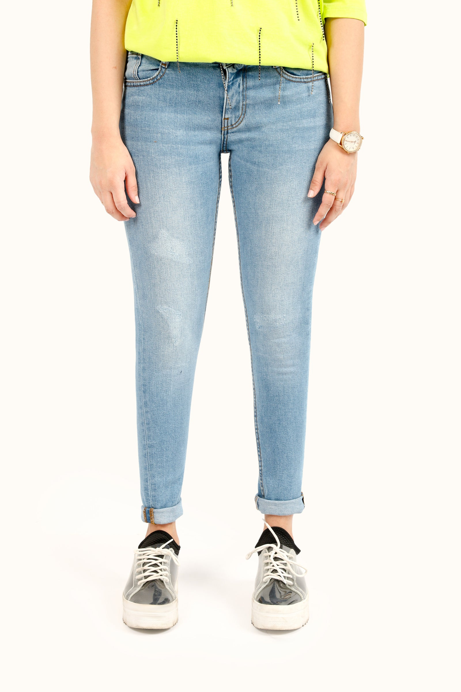 Skinny Fit Ripped Denim Jeans