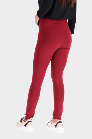 Basic Burgundy High waisted Tights