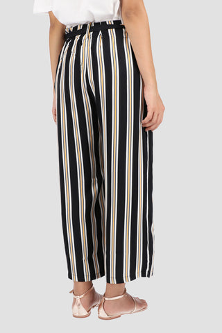 Black and White Wide  legged Trouser