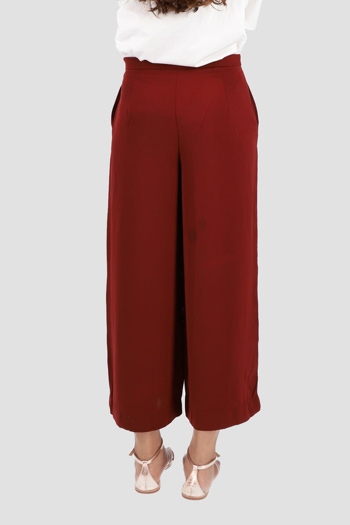 Maroon Wide Trouser
