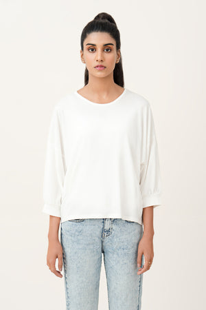 Ribbed Cuffs T-Shirt