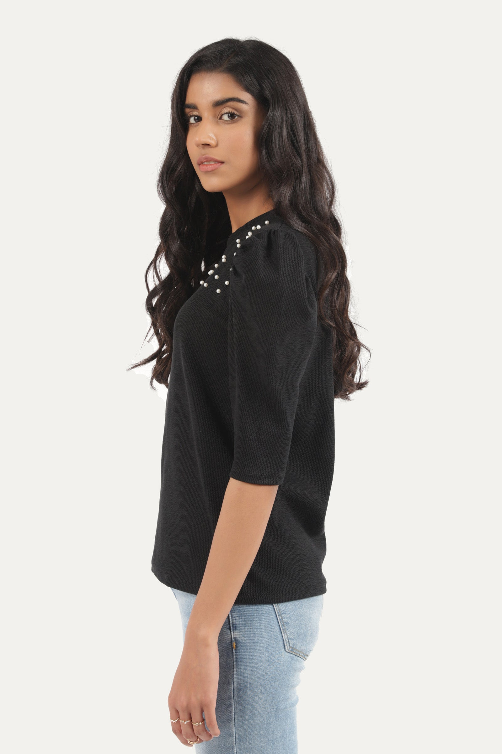 Ruffled sleeves T-Shirt