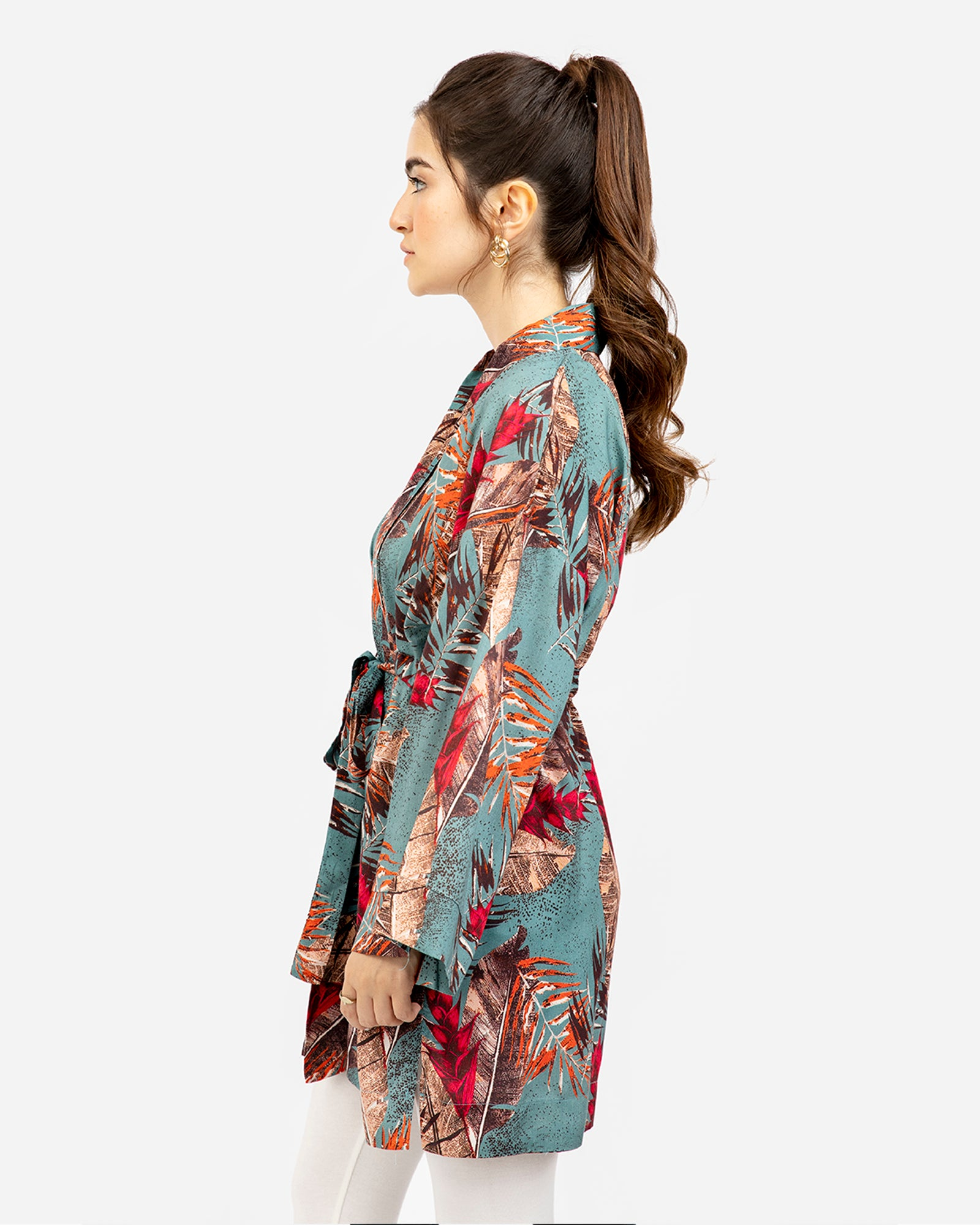 Tropical Print Shrug