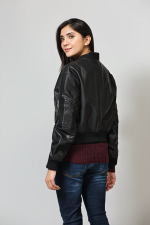Regular Fit Mock Collar Jacket