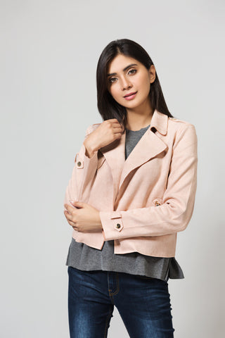 Regular Fit Lapel Collar Jacket