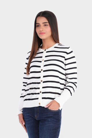 White and Black Striped Shirt
