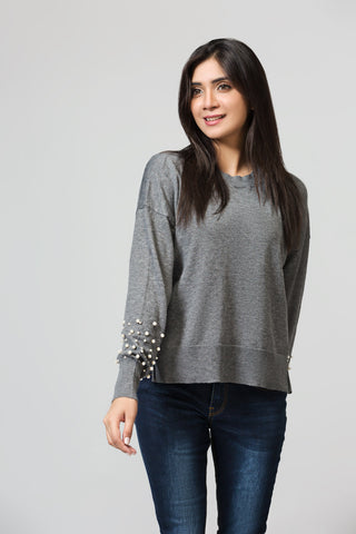 Crew Neck Boxy Sweater