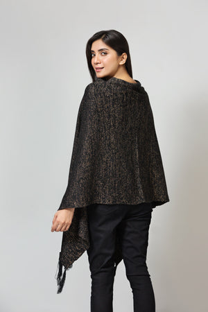 Tasseled Cape shawl