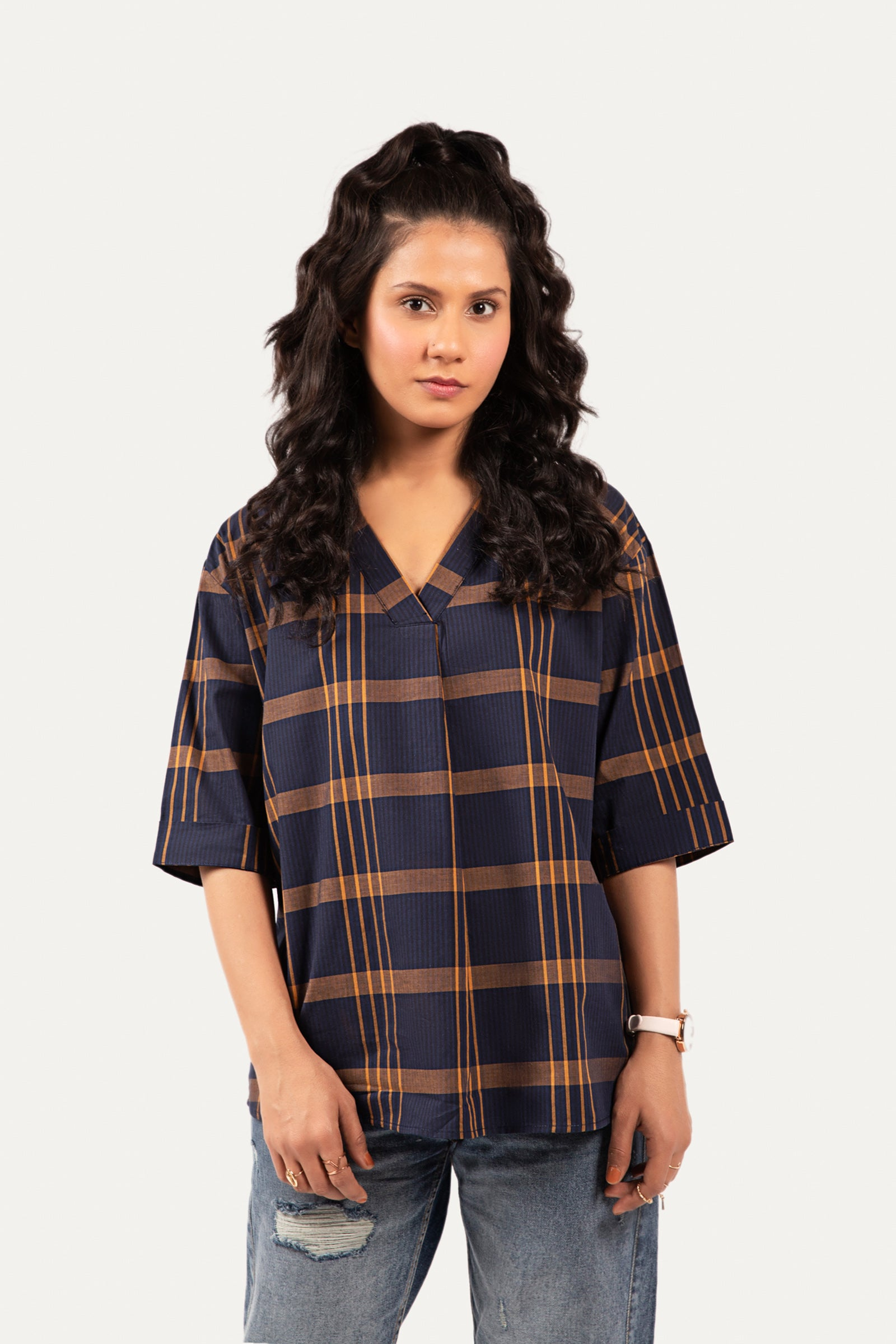 Chequered Top