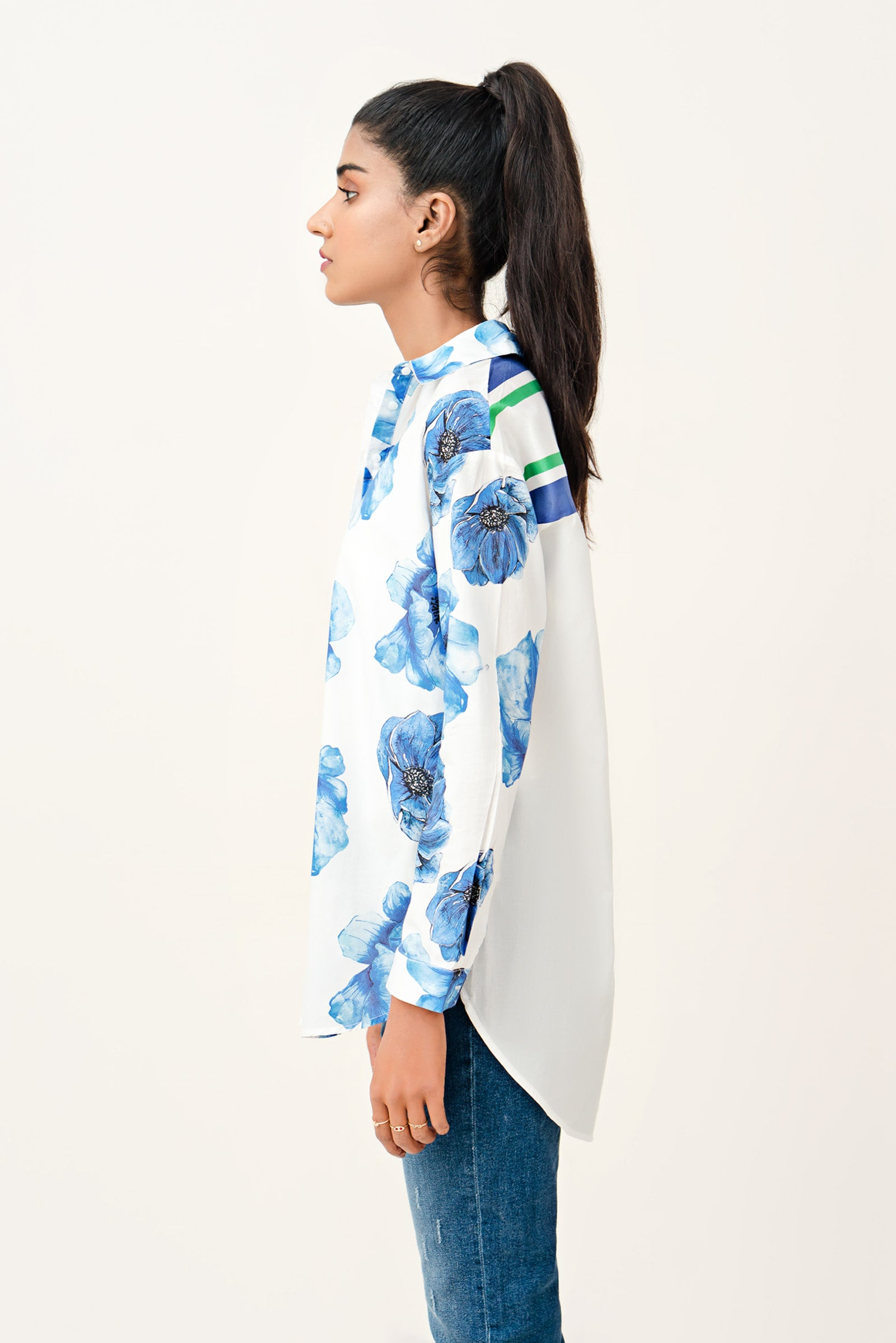 Printed Open Shirt