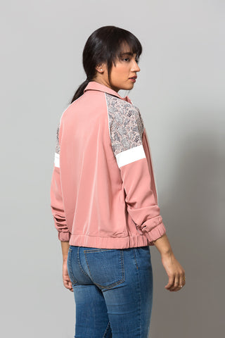 pattern zipper JACKET