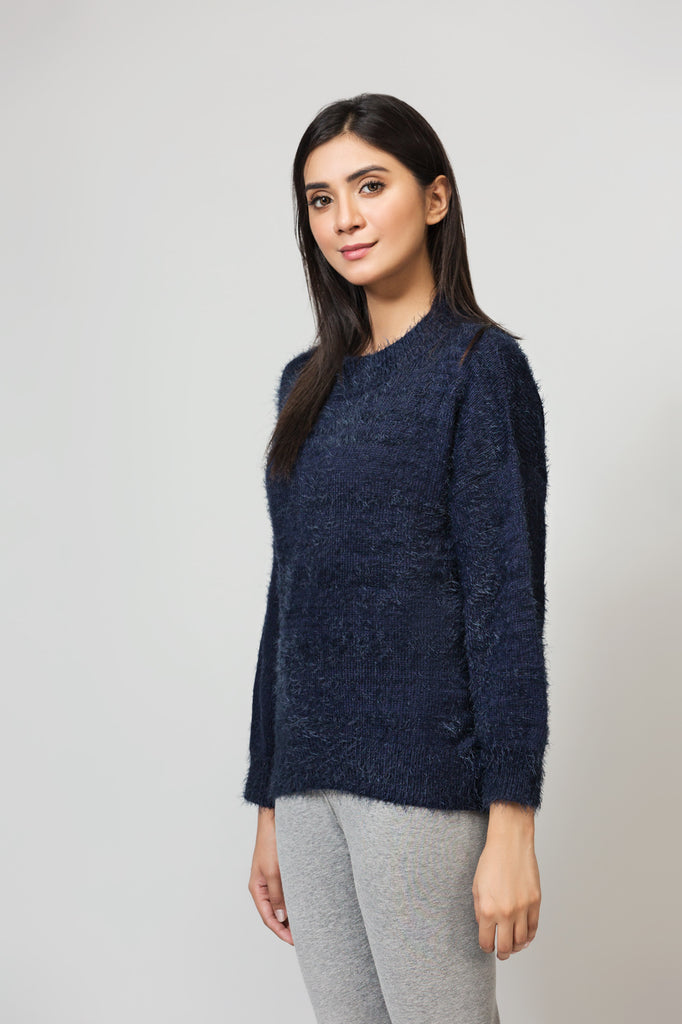 Blue Beckon Boxy fit Sweater