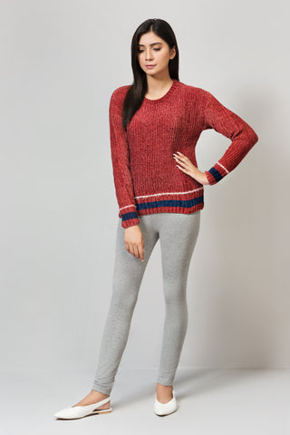 Regular Fit Striped Crew Neck Sweater