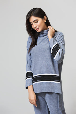Boxy Fit Turtle Neck Sweater