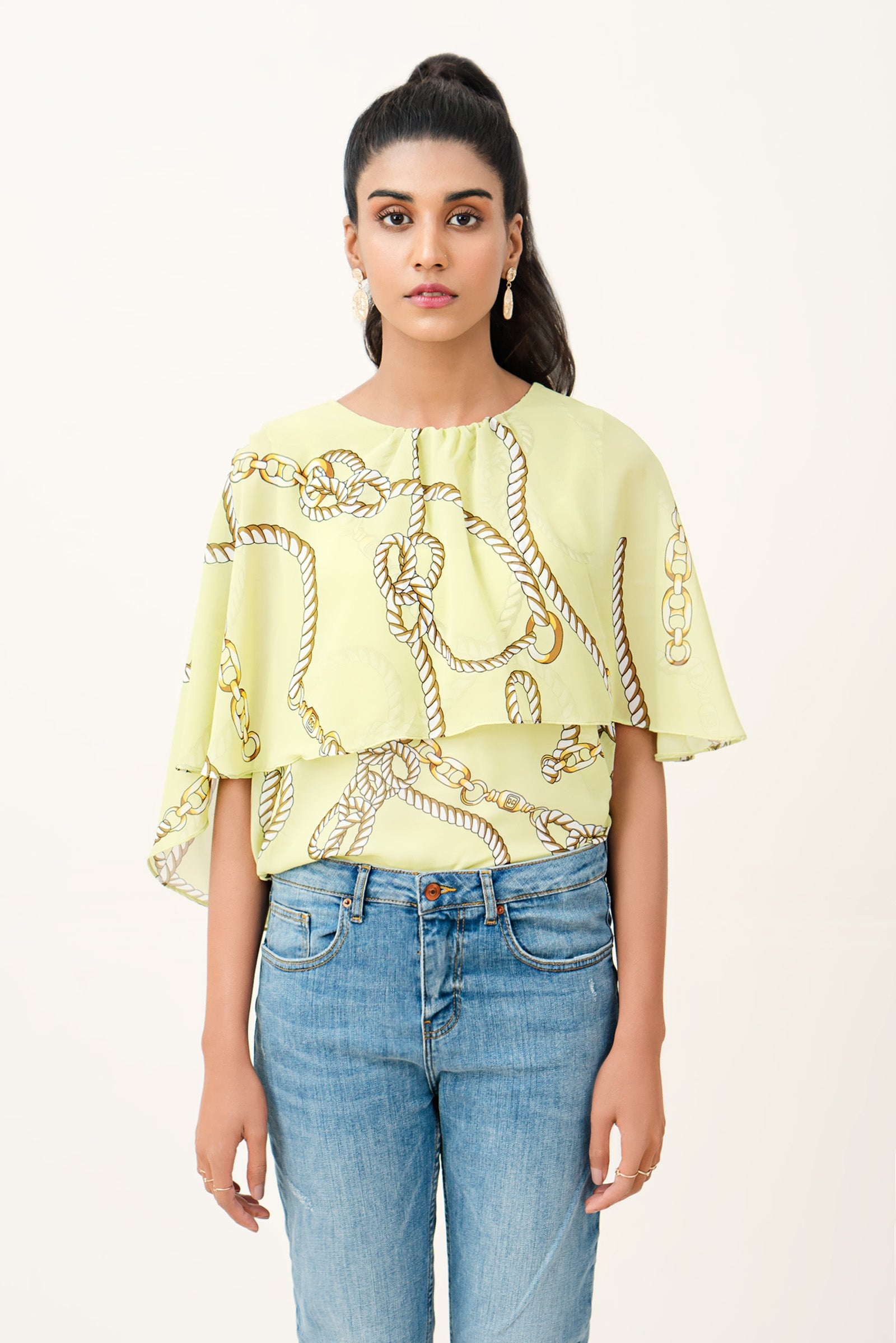 Chain Printed Top