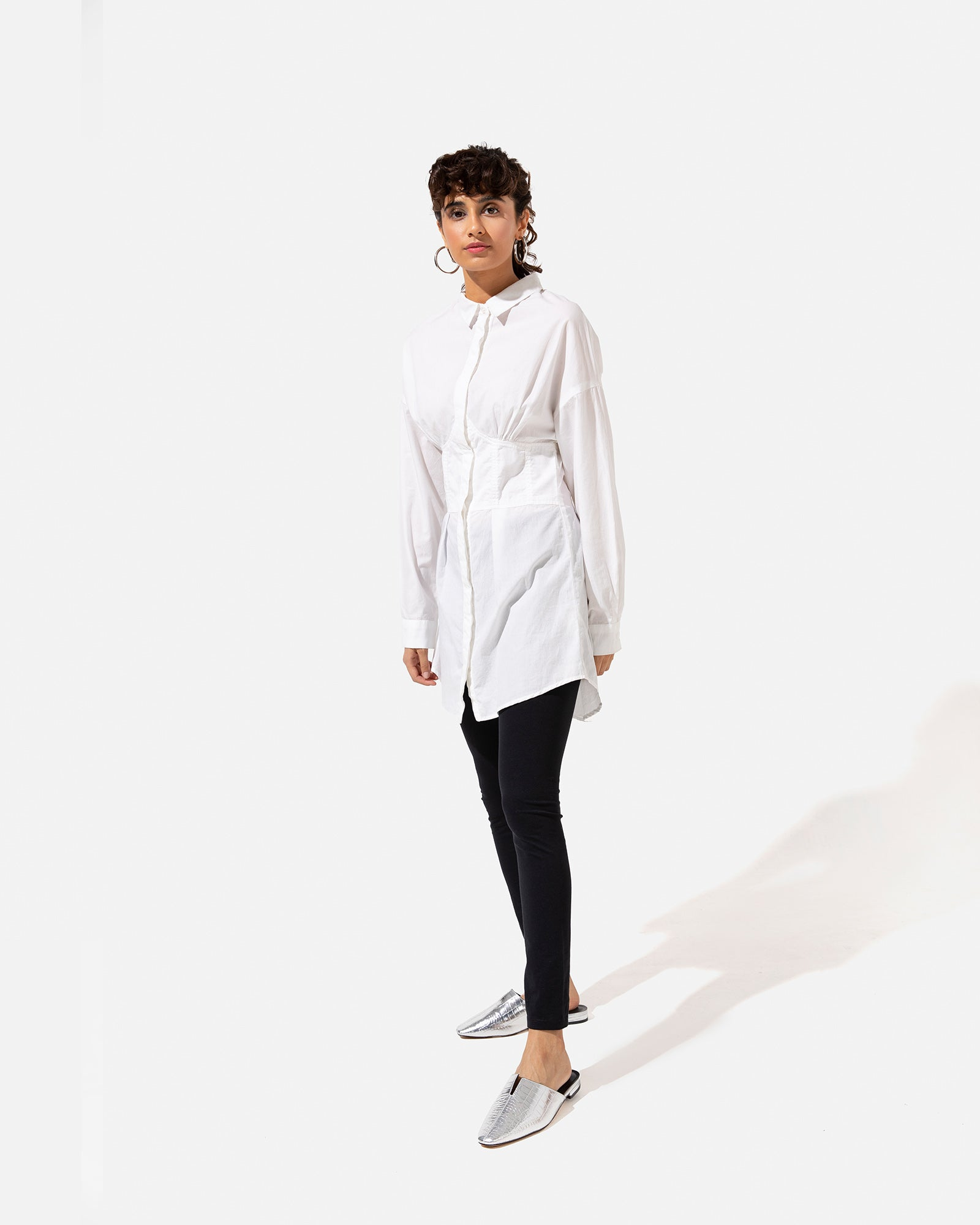 Shirt Dress with Panel Details