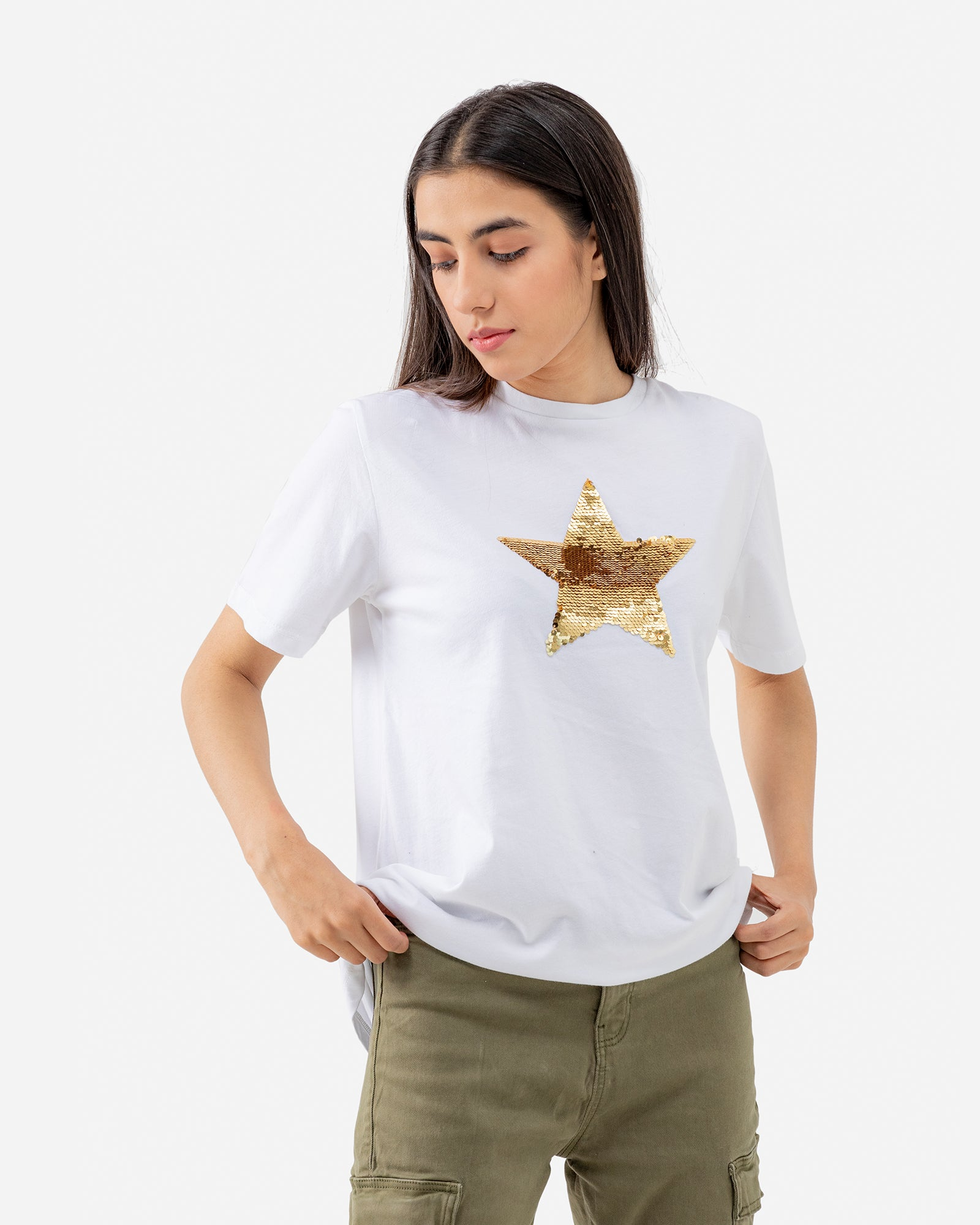 Star Sequined Tee