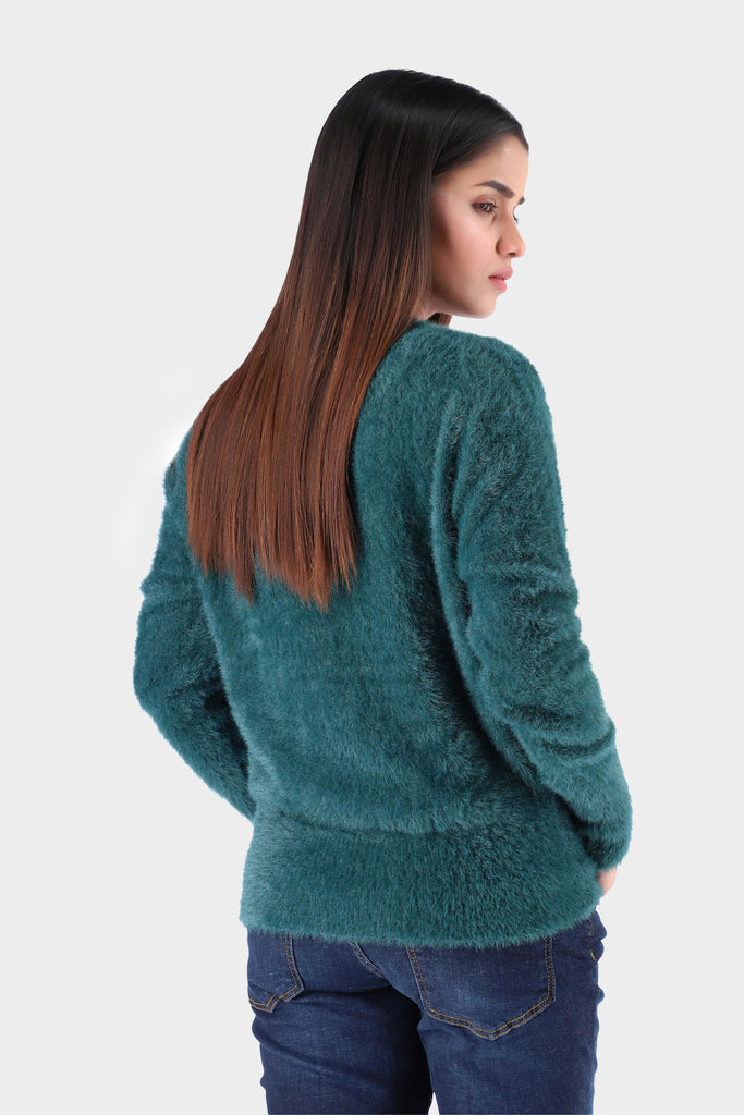 Emerald Green Knitted Sweater