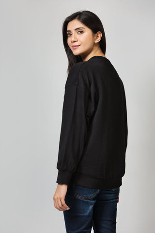 Boxy Fit Full Sleeves Sweatshirt