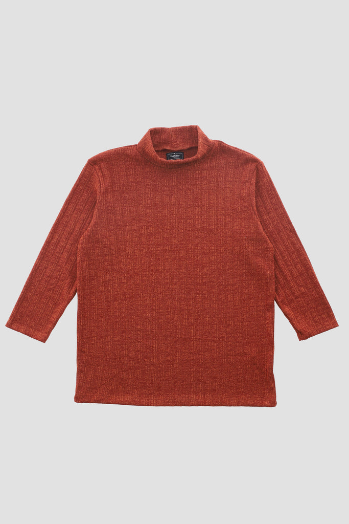Rust Woven Full-sleeves Shirt
