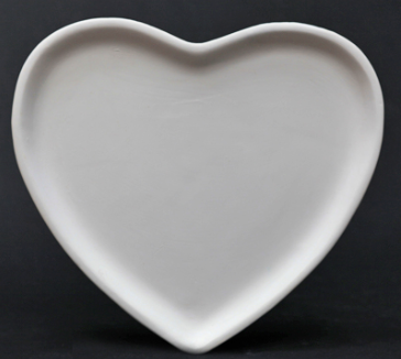 Pottery - Heart Plate
