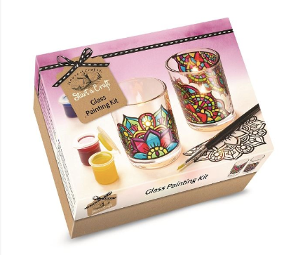 Glass Painting Kit - Candle Holders