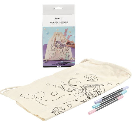 Magical Mermaid Fabric Colouring Bag