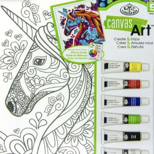 Canvas Art Kit with Paints Unicorn