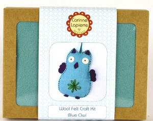 Mini Felt Kit - Blue Owl