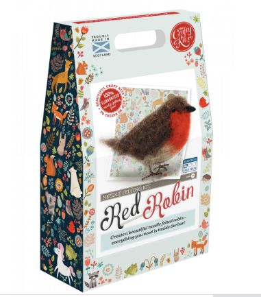Needle Felting Kit - Robin
