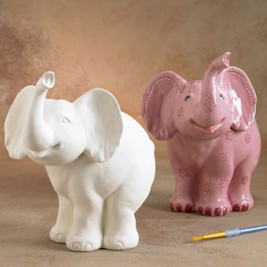 Biggie Elephant Money Bank Ceramic ready to paint