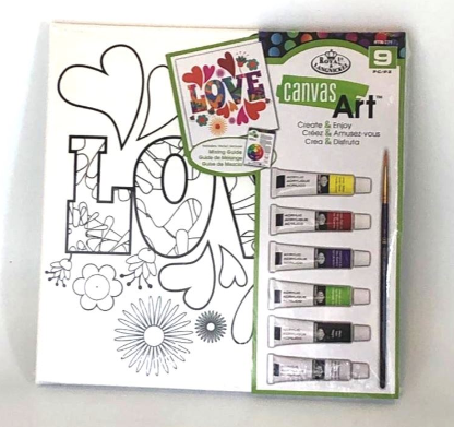 Canvas Art kit with Paint - Love