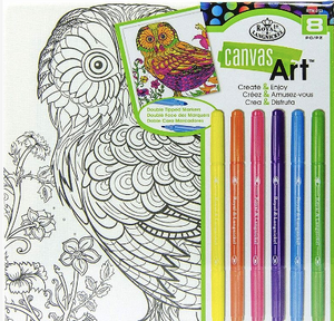 Canvas Art kit with Pens - Owl