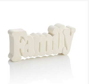 Blank ceramic pottery Family sign ready to be painted
