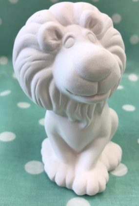 Ceramic Lion Party Animal ready to paint