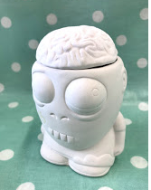 Zombie Pot with Brain Lid