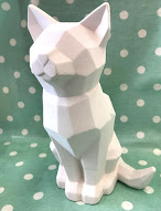 Pottery - Faceted Cat (Large)