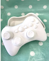 Gamer Xbox Controller trinket box ready to paint blank pottery ceramic