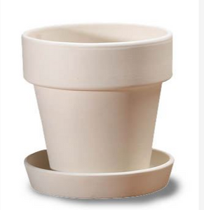Flowerpot and Tray (Medium)