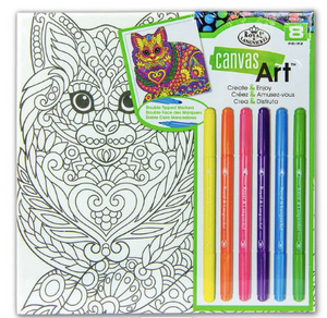 Canvas Art kit with Pens - Cat