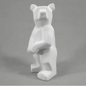 Pottery - Faceted Standing Bear
