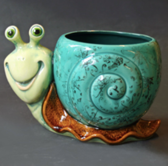 Pottery - Snail Planter