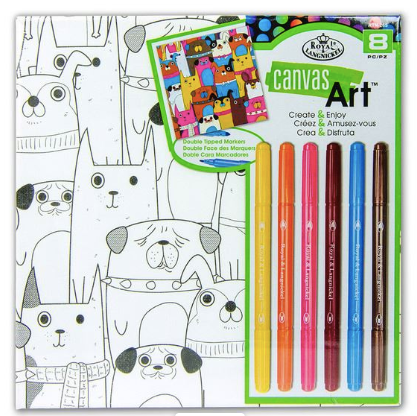Canvas Art kit with Pens - Dogs