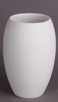 curved vase ceramic ready to paint