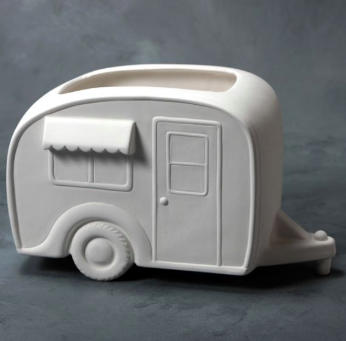 Pottery - Happy Camper Caravan Planter (large)