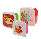 Sloth Lunchboxes - Set of 3