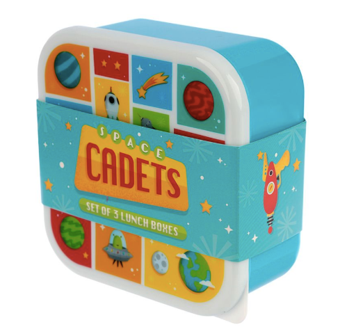Space Cadets Lunchboxes - Set of 3