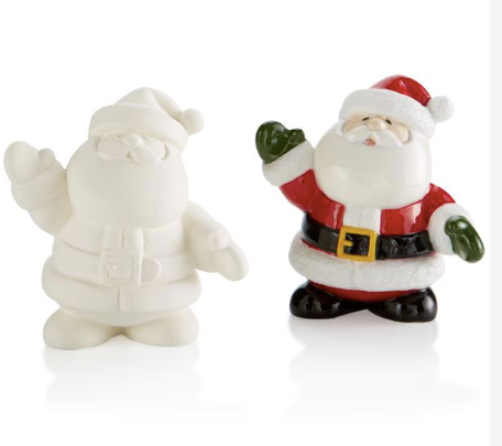 Pottery - Santa Ornament