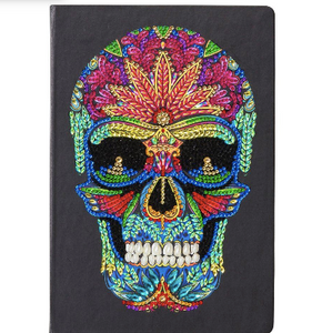Crystal Art Skull Notebook